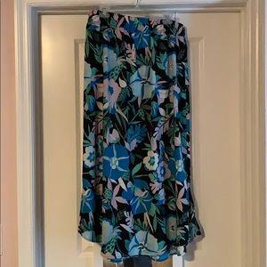 LOFT Outlet Chiffon Maxi Skirt Size L